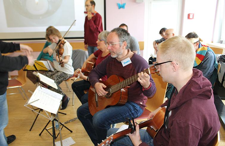 Hannes Gritsch in der Musikband