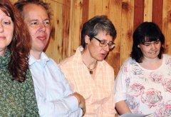 Ostern Reinhold Jopp, Birgit Koell und Anny Rittinger