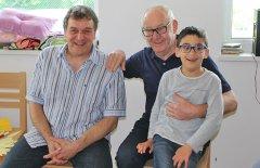 Geburtstag Mario Lohse mit seinem Vater und seinem Sohn