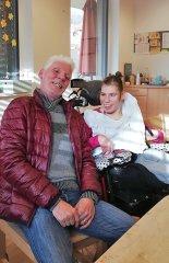 Ramona Putzi mit ihrem Papa